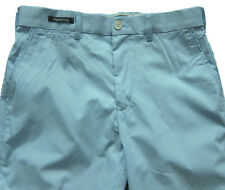 New Mens Marks & Spencer Light Weight Blue Tapered Chino Trousers Waist 46 36 32