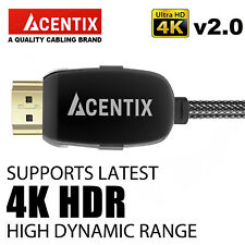 ULTRA-HD HIGH DEFINITION HDMI CABLE 4K @ 60HZ 2160p HDR XBOX 360 PS3 4 3D TV