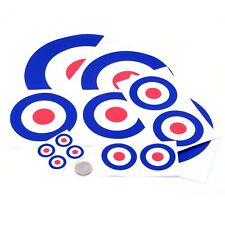 RAF Roundel Mod Stickers Choice Of Sizes Scooter The Who Vespa Vinyl Decals