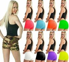 LADIES/GIRLS CHILDREN NEON LYCRA STRETCHY SEXY HOT PANTS SHORTS DANCE GYM PARTY