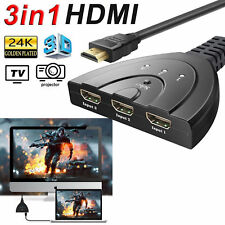 3 Port HDMI Switch Auto Switcher 3 way Hub Selector Splitter For HDTV XBOX PS4