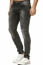 Redbridge Jeanshose di Pantaloni Jeans Uomo Denim Destroyed Grigio Scuro
