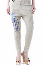 GR 73765 Beige pantalones de mujer sexy woman pantalones made in italy: