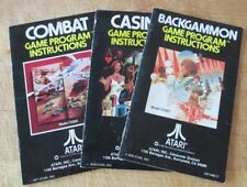 Atari 2600 Video Game Instruction Manuals Booklets Original