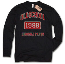 Longsleeve - 1988 OLDSCHOOL MAGLIA 30 REGALO COMPLEANNO INDIVIDUALE ANNO
