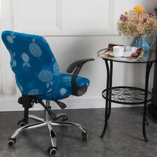 2Pcs Fashion Office Computer Chair Cover Swivel Rotate Office Seat Slipcover