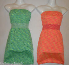 PRIMARK LADIES STRAPLESS BANDEAU POOL COVER UP SHORT BEACH HOLIDAY MINI DRESS S