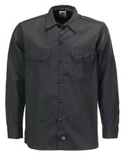 Chemise Dickies SOUS LICENCE Long Sleeve Slim black (S au 2XL) manches longues