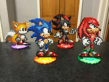 SALE: Sonic the Hedgehog Hama Bead Stands- Sonic, Knuckles, Tails, Shadow
