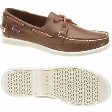 Sebago Litesides Two Eye Men's Deck Shoe 7000HJ0/907 Medium Brown Leather NEW
