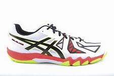 Mens Asics Gel Blade 5 R506Y 0190 Lace Up White Black Red Mesh Trainers