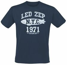 Led Zeppelin NYC 1971 T-Shirt blu