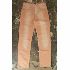 New Fendi Pink Bleached Effect Jeans With Zucca Monogram Pattern RRP £265 BNWT