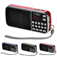 MINI PORTATILE LCD digitale automatico FM ALTOPARLANTE USB DISCO TF AUX MP3
