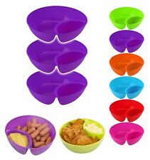 Set of 3 Snack Bowl Children Bowl Kids Bowls SERVING TRAY DISHES Tapas Chip/Dip