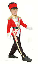 GARDE ROYALE rouge soldat garçons Marching Band MILITAIRE COSTUME NEUF âge 4-10