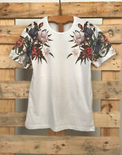 T-shirt stampa floreale con rose