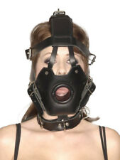 Master Series - Masques - Strict Museau Premium en cuir avec Open Mouth Gag