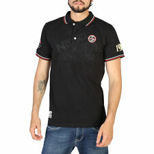 BD 91866  Nero Geographical Norway Polo Geographical Norway Uomo Nero 91866 Polo