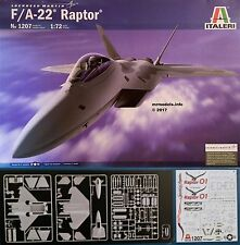 Italeri 1/72 F/A-22 Raptor New Plastic Model Kit 1207 F22 F-22 F 22 FA22 FA-22