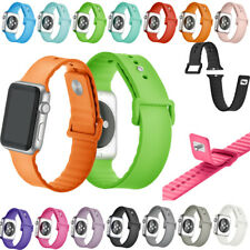 New For Apple Watch Band 38mm 42mm Silicone Replacement Sport iwatch Wrist Strap