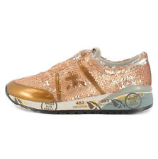 Premiata ANN2945 Awarded women's gold Ann 2945 sneaker with sequins