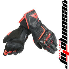 Guanti Dainese Carbon D1 Long Gloves Black/Black/Fluo-Red