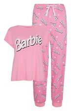 BARBIE Ladies T-Shirt Pyjama Set in Pink Women's Nightwear Bnwt