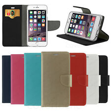 FLIP COVER PER APPLE IPHONE CUSTODIA A LIBRO PORTAFOGLIO ECO PELLE CASE WALLET