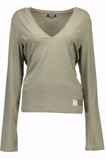 GR 53171 Verde t-shirt donna datch donna t-shirt verde datch con scollo a v mani