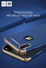 3 In 1 Electroplated Bumper Pc Hard Back Cover Case For Apple iphone X  (10 TEN)