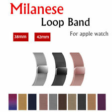 Stainless Steel Band For  Watch Milanese Loop Strap 42/38 mm Link Bracelet wa...