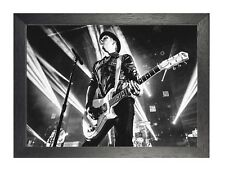 Fall Out Boy (1) American Rock GRUPO Guitarrista On Stage blanco y negro cuadro
