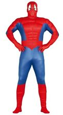 Adult Mens Spiderman Costume Superhero Muscle Fancy Dress Halloween Outfit M-XL
