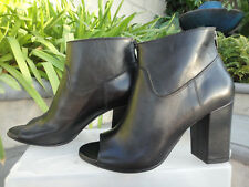 Golden Goose Deluxe Brand CLAIRE Black Leather Ankle Boots Back Zip Italy, EUR38