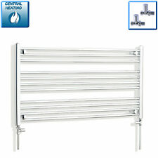 1300mm Wide Towel Rail Rad Central Heating Chrome Bathroom Radiator 600mm High *