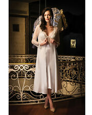 Women Ivory Satin and Lace Nightdress and Gown  European Products