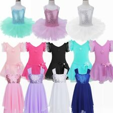 Girls Kids Gymnastics Tank Ballet Dancing Leotards Latin Skating 4-12Y Dancewear