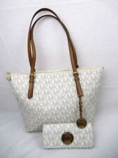 MICHAEL KORS Jet Set Vanilla Signature EW Tote Shoulder Bag or Wallet  or Both