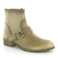 MJUS 900207 Womens Leather & Textile Ankle Boots Savanah Brown