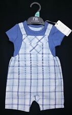 Baby Boys MOTHERCARE Cotton Shorts Dungarees & Bodysuit 0-3 & 3-6 Mths BNWT