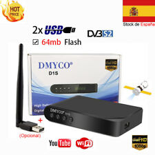 ES FTA DVB-S2 Satellite Receiver D1S + USB Wifi Support PowerVu Biss Key Youtube