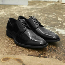 NEW Dior Homme Black Patent Leather Wingtip Brogue Shoe Size 43 BNIB RRP £440