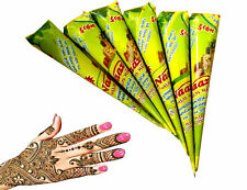 12 x Natural Colour Henna Cones Golecha Mehndi Cone Halal Skin Friendly