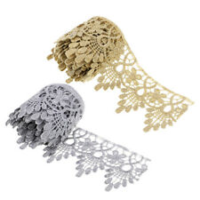 1 Yard Metal Wire Flowers Crown Lace Trims Ribbon Trimmings For Dress Sewing