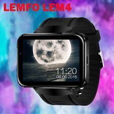 Lemfo LEM4 Bluetooth Wireless 4G SIM GPS SmartWatch cell Phone For Android TD