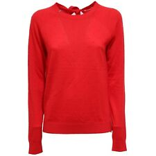 5842W maglione donna SUN 68 red wool sweater woman