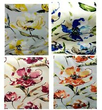 Floral Cushion Covers yellow blue orange purple pink 12 16 18 19''  Cotton  BN