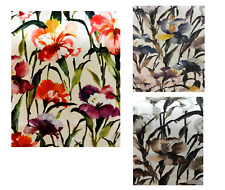 New Tropical flower print Micro velvet Cushion Covers 12 16 18 19'' red yellow