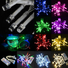 10LEDs String Wire Fairy Lights Lamp Christmas Battery Powered Party Decorations